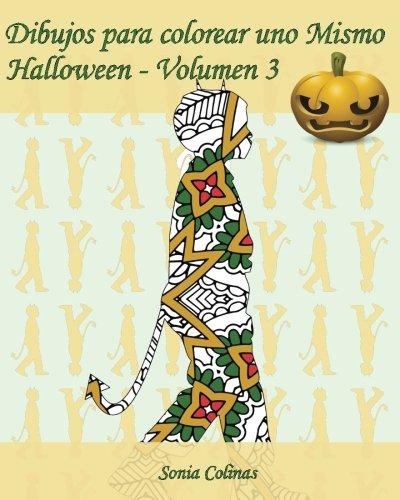 Dibujos para colorear uno Mismo - Halloween - Volumen 3: 25 figuras de niños con trajes de Halloween