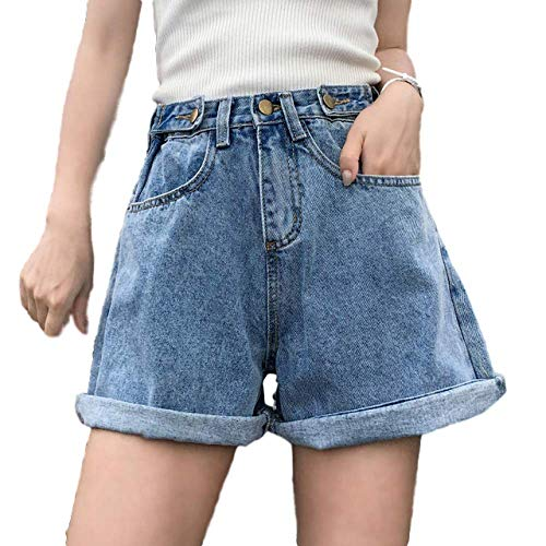 NOBRAND Jeans a gamba larga con bottoni laterali