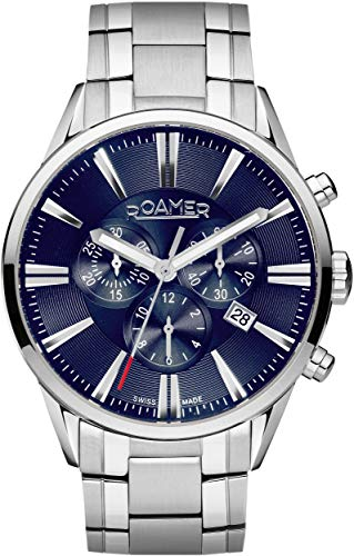 Roamer Herren Analog Schweizer Quarzwerk Uhr mit Edelstahl Armband 508837-41-45-50