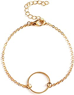 Jewelry Metal Ring Anklet Summer Simple Metal Ring Anklet Multi-Function Chain K101