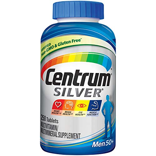 Centrum Silver Men Multivitamin/Multimineral Supplement Tablet, Vitamin D3, Age 50+ (250 Count)