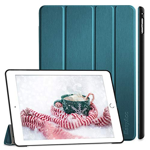 EasyAcc Hülle Kompatibel mit iPad Air 2, Ultra Slim Cover Schutzhülle PU Lederhülle mit Standfunktion/Auto Sleep Wake Up Funktion Kompatibel mit iPad Air 2 2014 Modell Number A1566/A1567 Pfauenblau
