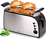 TZS First Austria - gebürsteter Edelstahl 4 Scheiben Toaster 1500W...