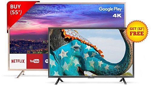 TCL 139.7 cm (55 inches) L55P2MUS Android M 4K UHD LED Smart...