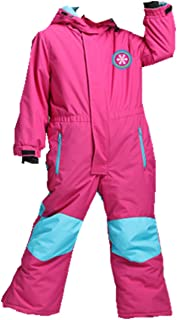 Genma0 One-Piece Snowsuit Waterproof Windproof Taslon Reflective for Kids