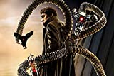 makeuseof Living Room Home Wall Decoration sill Fabric Poster Spider Alfred Molina Doc Ock Dr. Otto Octavius Doctor Octopus
