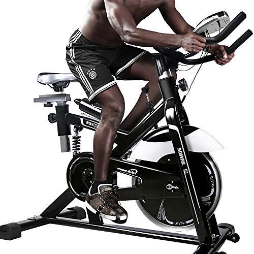 FGONG Vélo de vélo d'intérieur Stationnaire - Vélo d'exercice à entraînement par Courroie à résistance magnétique, capacité de Poids élevée, Volant Moteur Robuste Standard Commercial