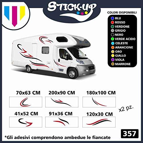 Stick-up Adesivi Camper Grafica in Vinile Adesivi Decalcomanie Set Camper Van RV Caravan Motorhome roulotte x 24 Adesivi Kit Completo di Adesivi per Camper e roulotte(Colori Come da Foto)