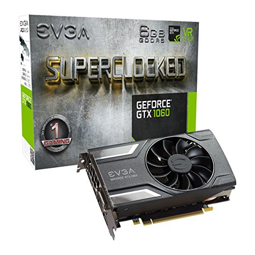 Evga NVIDIA GeForce GTX 1060SC Gaming 6Gb GDDR5VR Ready scheda grafica–nero