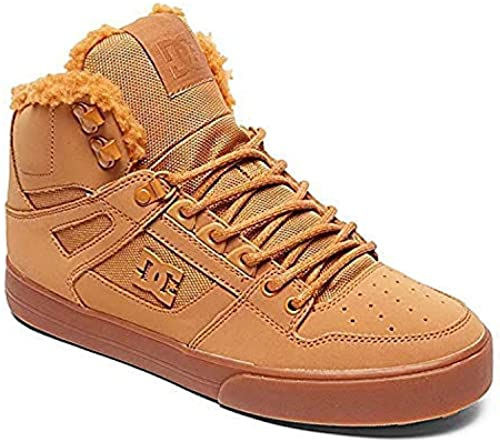 DC schuhe Men& 039;s Pure Winter Hi Top Snow Stiefel schuhe Wheat braun 9.5