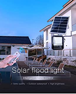 G&T Solar light Floodlight LED 1000 Watt White Colour - Remote Control - Waterproof - For Garden automatically operates al...
