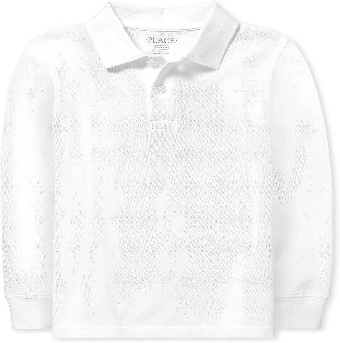 The Children's Place Boys' Uniform Long Sleeve Pique Polo 2-Pack