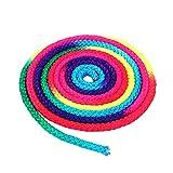 Dewin Cuerda gimnástica - Arco Iris Color Gimnasia Rítmica Cuerda Sólida, Cuerda de Entrenamiento de Competición