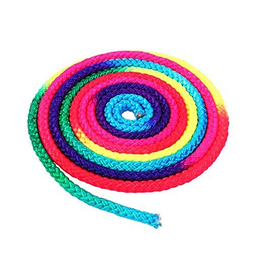 DEWIN Cuerda gimnástica - Arco Iris Color Gimnasia rítmica Cuerda sólida, Cuerda...