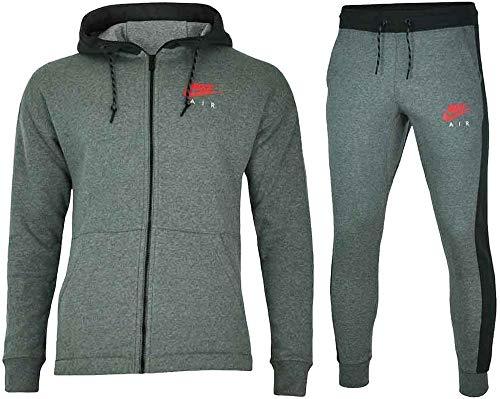 Nike - Nike Tuta Uomo Cotone Felpato Grigia - XL, Grau