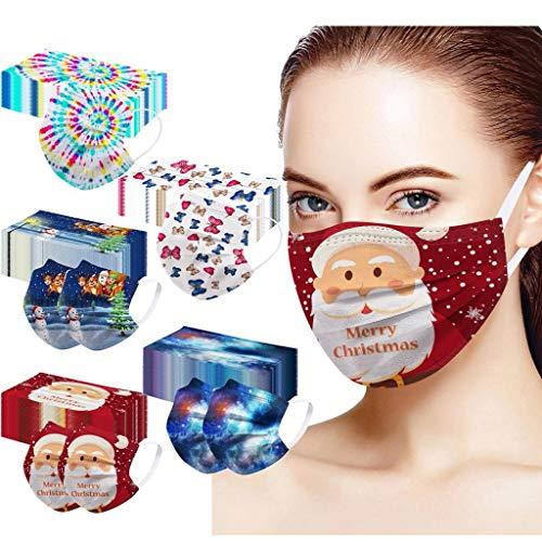 50 Stück Mundschutz,3 lagig Mund-Nasen-Schutz, Einfarbig Multifunktionstuch Bandana Staubdicht Atmungsaktiv Mund-Nasen Bedeckung Halstuch Schals für Erwachsene (A11:17.5X9.5cm)