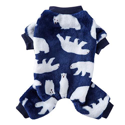 Poseca Pijamas para Perros pequeños y medianos Oso Polar Monos para Perros Suéter cálido de Lana para Perros Pijamas para Mascotas Monos para Perros pequeños y Gatos