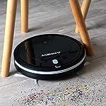 ANNEW Aspirateur Robot Machine Nettoyage avec télécommande 3 Modes de Nettoyage antichute Filtre HEPA idéal pour Les Poils d'animaux Tapis Sol Dur #2
