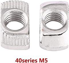 20MM T-Slot per Stampanti 3D Trutture Industriali in Alluminio Taglierine Laser CNC Progetti di Robotica ETSAMOR 100 Pezzi T-Nut M5 Dadi a T Dado 20 Serie in Acciaio al Carbonio Adatto a 20