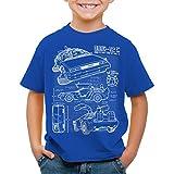 style3 DMC-12 Bleu T-Shirt pour Enfants, Couleur:Bleu;Taille:152