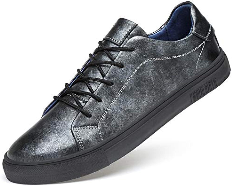 LOVDRAM Boots Men's Men'S shoes Autumn Casual shoes Leather shoes Men'S Leather Fashion Wild Men'S Fashion shoes
