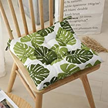 YLLN 2er Pack Garden Chair Cushion Seat Cushion Recliner Cushion Back Cushion Low-Back Cushion with Ties Chair Pads for Of...