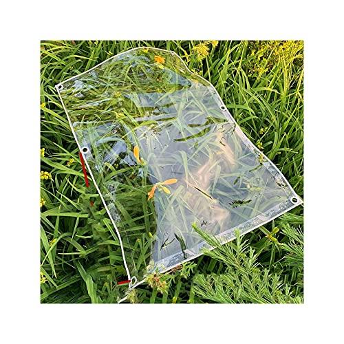 Lonas claras Tarpaulina transparente, espesor resistente al agua de la lona antienvejecimiento anti-envejecimiento 0,3 mm para tabletas de plástico para acampar ( Color : CLEAR , Size : 1.6X4M )