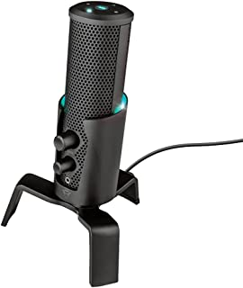 Trust Gaming GXT 258 Fyru USB 4-In-1 Streaming Microphone for PC, PS4, PS5 and Laptop - Black