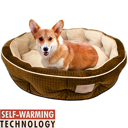 American Kennel Club Thermal Houndstooth Self Heating Memory Foam Pet...