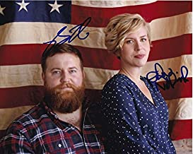 BEN & ERIN NAPIER signed autographed HGTV HOME TOWN AMERICAN FLAG photo