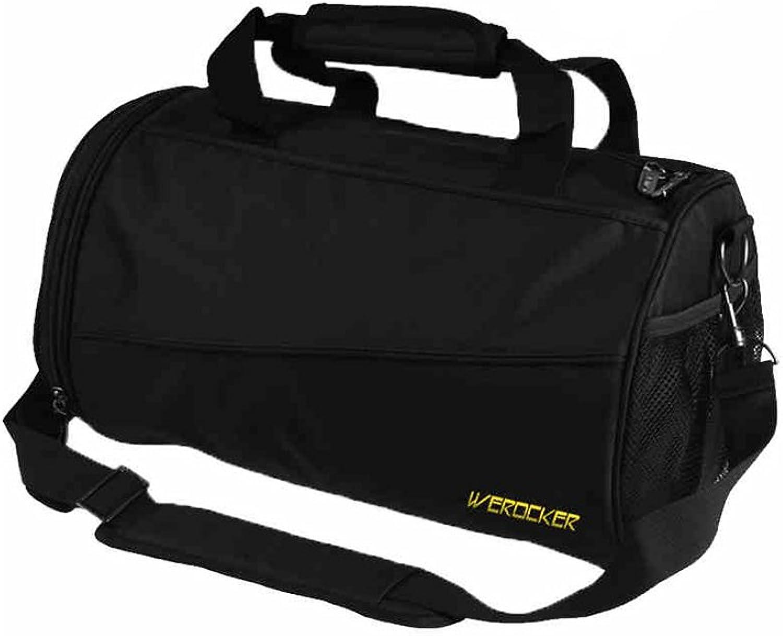 MuMa Daypacks Freizeit Reisen Eimer Form Rucksack Umhngetasche Umhngetasche Fitness Rucksack (Farbe   schwarz - Medium)