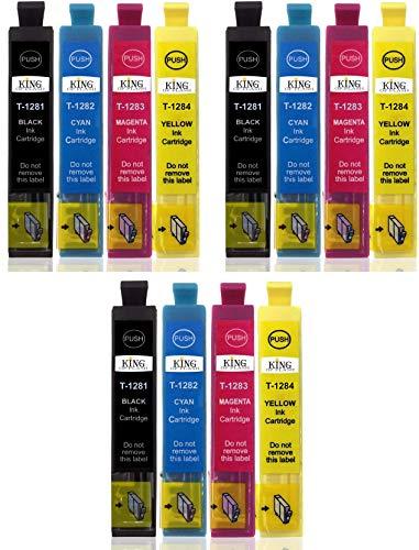 King of Flash Compatible con cartuchos de tinta para impresora Epson T0715 - cian, Magenta, amarillo, negro