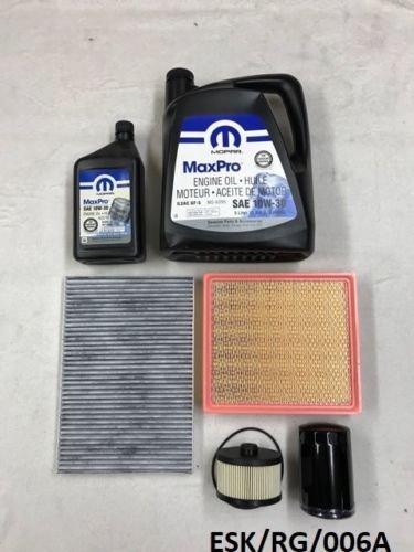 Mopar Nty Engine Medium kit d'entretien Voyager/Grand Voyager 2.5 CRD et 2.8 CRD 2001–2005 10 W30