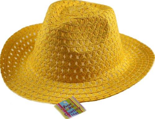 Chapeau Pâques Cowboy Garçon - Idéal à Décorer - Jaune