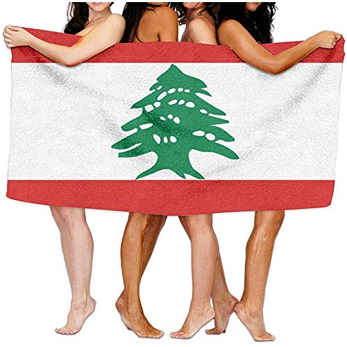 Olie Cam Toallas de Playa con Bandera libanesa Unisex Toallas de baño Toalla de Viaje