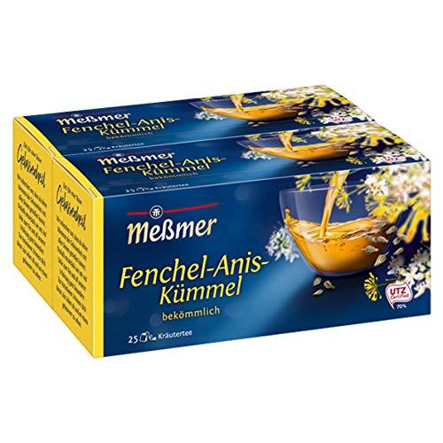 Meßmer Fenchel/Anis/Kümmel 25 TB, 2er Pack (2 x 50 g Packung)