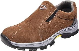HOMYL Safety Work Boots Brown Men Leather Hiker Steel Toe Size AU 7.5-10.5 - EU43 US9
