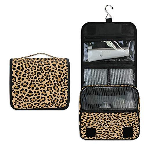 funnyy Kulturbeutel zum Aufhängen, abstraktes Leopardenmuster, Reisetasche, Kosmetiktasche, Make-up-Zubehör, Organizer, Beauty-Beutel für Damen, Mädchen, Kinder,...