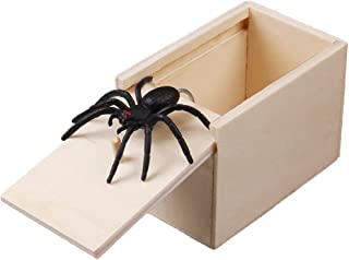 Goodqueen Hilarious Scary Box Spider Prank Wooden Scarybox Joke Gag Toy No Word Magic Show Time