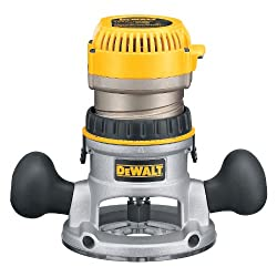 DEWALT DW616 router, available at Amazon