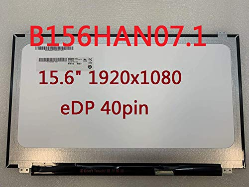 "B156HAN07.1 Lifedream 15.6"" 1920x1080 EDP 40pin 72% NTSC 144Hz IPS LCD LED Screen Display Panel (No Touch)"