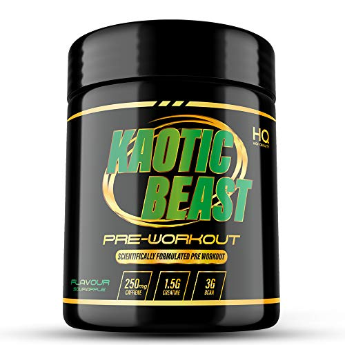 Pre Workout | Sour Apple | BCAA's 2:1:1 | Beta Alanine | 250mg Caffeine per Serving | Creatine | Vegan | Vitamins C & B6 | GMP Approved | ISO9001 Certified