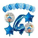 QIANGQSM 15 unids Plaz Payaso Helio Helio Balloons 30 Pulgadas Número Air Globos NIÑOS Fiesta de cumpleaños para niños Decoraciones de Ducha Bebé Detalles Regalos Globo (Color : 04)