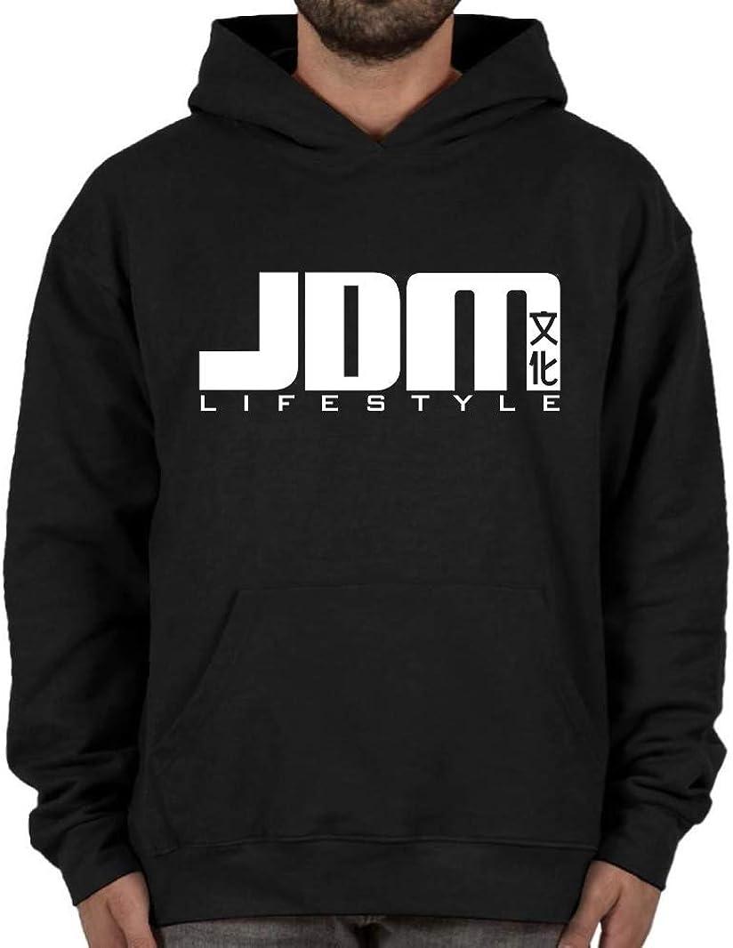 JDM #15 Lifestyle Import Hoodie Black Sweatshirt Street Racing Gear