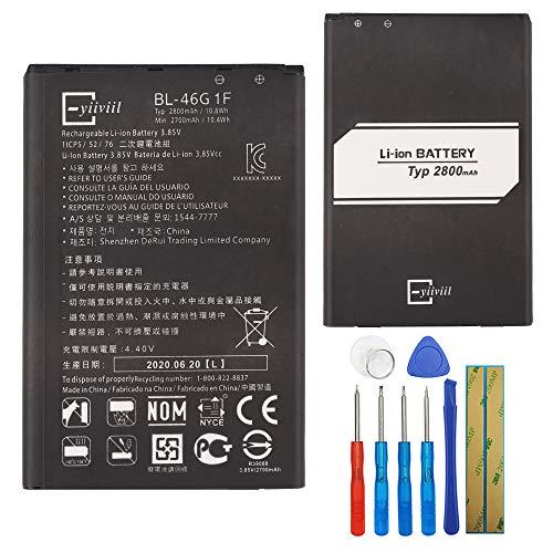E-yiiviil BL-46G1F - Batería de repuesto para LG K10 2017 K121K K121L K121S M250N K20 Plus (con herramientas)