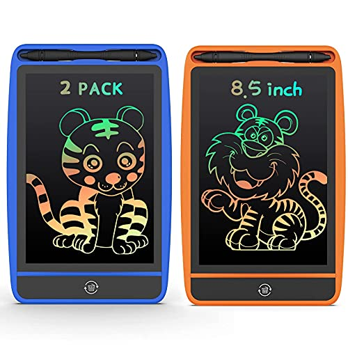 LCD Writing Tablet Colorful Doodle Board Drawing Pad for Kids Erasable Electronic Painting Pads Learning Educational Toy Gift for Age 3 4 5 6 7 8 Year Old Girls Boys Toddlers