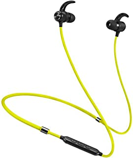 GLJJQMY Sports Bluetooth Headset New Neck-Mounted Wireless Magnetic Bluetooth Headset Bluetooth Earphone (Color : Yellow)