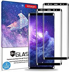 ✔ 【Samsung Galaxy Note 9 Tempered Screen Protectors】: Unique design tempered glass for Samsung Galaxy Note 9, 3D coverage protect the whole screen and Suitable for use with soft phone case to prevent edges-peeling up. ✔ 【Ultra Clear & Full Coverage】:...