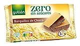 Gullón Barquillos sin Azúcar con Chocolate Pack de 3, 180g