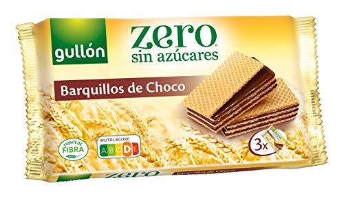 Gullón ZERO sin azúcares Barquillos Sabor Chocolate, 3 X 60G, 180 Gramos